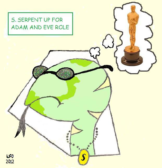 An Oscar nominee waiting for the envelope to be opened.