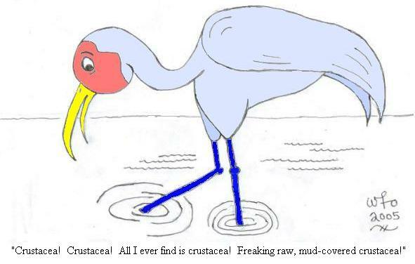 I made this crane by cartoonizing a photo of a crane.